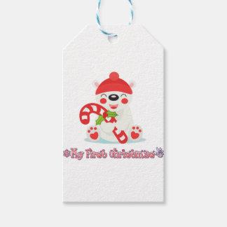 Étiquettes-cadeau Mon premier ours de bébé de Noël