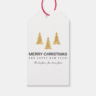 Étiquettes-cadeau Noël d'or