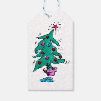 Étiquettes de cadeau d'arbre de Noël