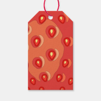Étiquettes de cadeau de fraise