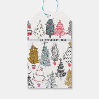 Étiquettes de collage d'arbre de Noël
