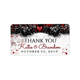 Étiquettes de Merci de mariage de Halloween