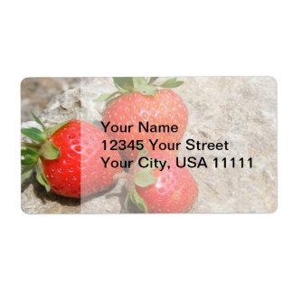 Étiquettes d'expédition de fraise