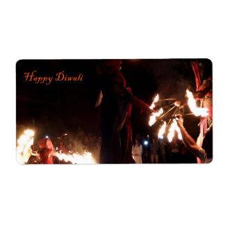 Étiquettes d'expédition heureux de Diwali
