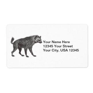 Étiquettes d'expédition repérés d'hyène