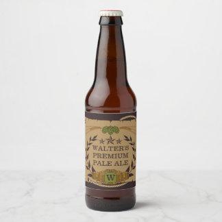 Étiquettes faits sur commande de bière de