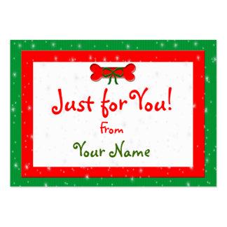 Étiquettes personnalisées de cadeau de Noël d'os Carte De Visite Grand Format