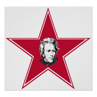 Étoile d'Andrew Jackson Poster
