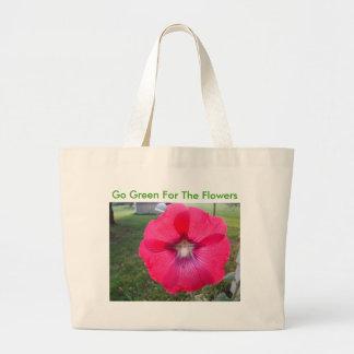 Étoile dans la rose trémière, devenez écolo pour l sac en toile jumbo