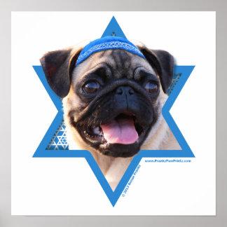 Étoile de David de Hanoukka - carlin Posters