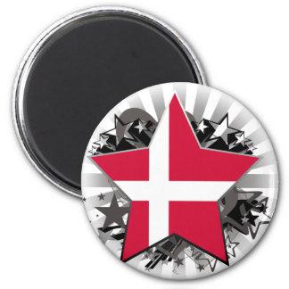 Étoile du Danemark Magnet Rond 8 Cm
