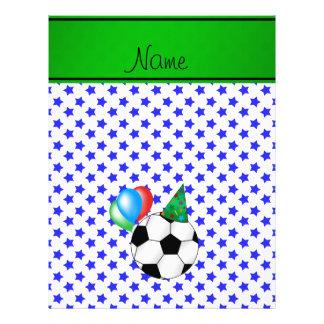 Étoiles bleues personnalisées du football nommé tract customisé