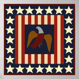 Étoiles d'ère de guerre civile et affiche de carré