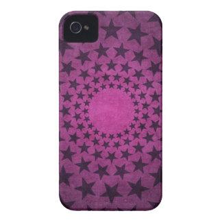 Étoiles vintages de pourpre coque Case-Mate iPhone 4