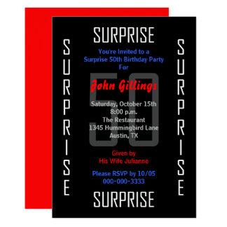 Étonnez la cinquantième invitation 50 de fête