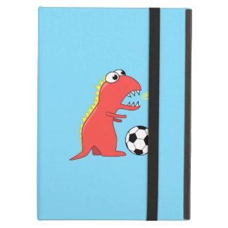 Étui iPad Air Dinosaure drôle de bande dessinée jouant au