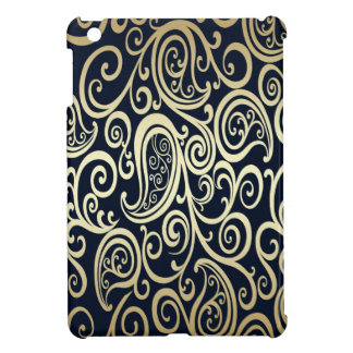 Étui iPad Mini or vintage gai adorable Paisley floral