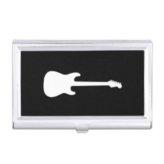 Étui Pour Cartes De Visite Noir de professeur de guitare de musique