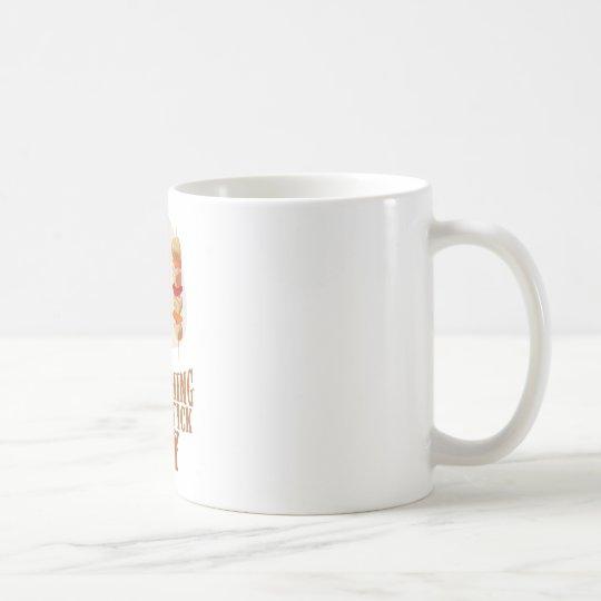 Etwas an einem Stock-Tag Tasse