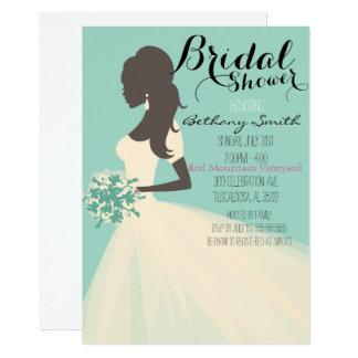 Etwas blaue Brautpartyeinladung 12,7 X 17,8 Cm Einladungskarte