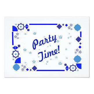Etwas blaue Party Einladung Karte
