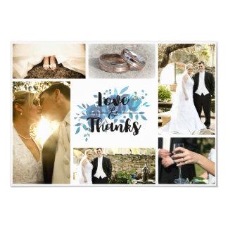 Etwas blaue Watercolor-Hochzeit danken Ihnen Foto 8,9 X 12,7 Cm Einladungskarte