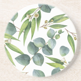 Eukalyptus-Laub-Muster Getränkeuntersetzer