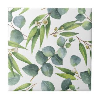 Eukalyptus-Laub-Muster Keramikfliese