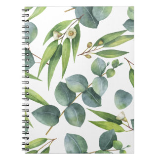 Eukalyptus-Laub-Muster Notizblock