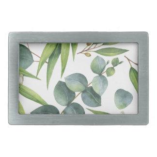 Eukalyptus-Laub-Muster Rechteckige Gürtelschnalle