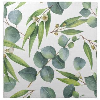 Eukalyptus-Laub-Muster Stoffserviette