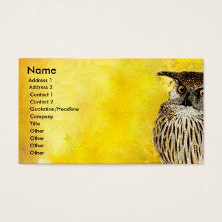 EULE berufliche Vogel-Entwurf  Watercolors Visitenkarte