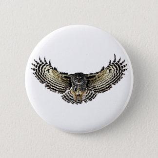 Eule im Flug Runder Button 5,1 Cm