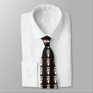 Eule mit Abschluss-Kappen-Hals-Krawatte Krawatte