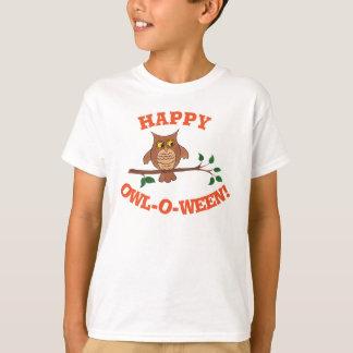 Eule-O-ween - kundengerechter Halloween-T - Shirt