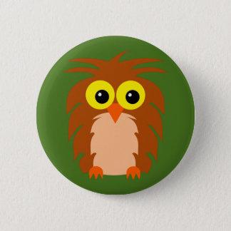 Eule owl runder button 5,7 cm
