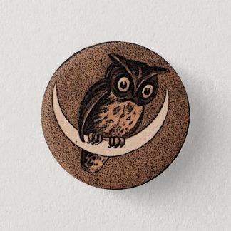 Eule Runder Button 2,5 Cm