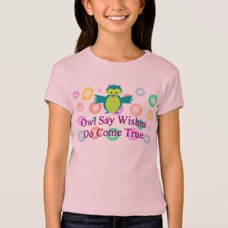 Eule sagen das Bella der Wunsch-Mädchen T-Shirt