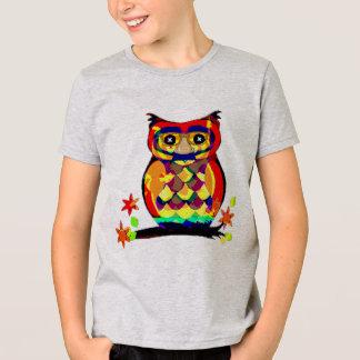 Eule T - Shirtentwurfs-Geschenkidee der Gläser in T-Shirt