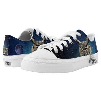 Eule und blauer Mond Niedrig-geschnittene Sneaker