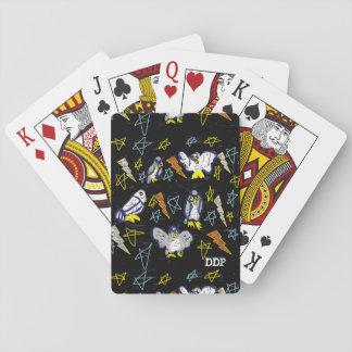 Eule und Bolzen Spielkarten
