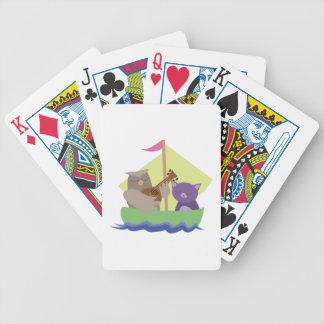 Eule und der Pussycat Bicycle Spielkarten