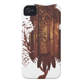 Eule und Herbst-Wald Landscape2 Case-Mate iPhone 4 Hüllen