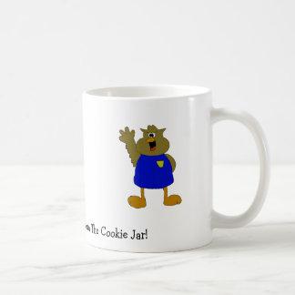 Eulen-Cartoon-Polizist-Schreien Kaffeetasse