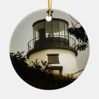 Eulen-Hauptleuchtturm Rundes Keramik Ornament