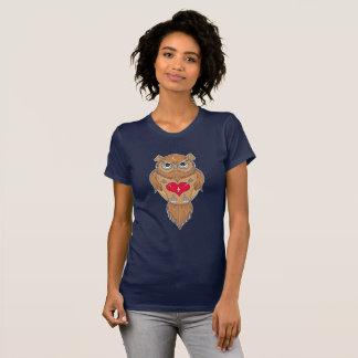 Eulen-Illustration T-Shirt