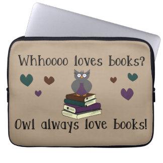 Eulen-immer Liebe-Bücher Computer Schutzhüllen