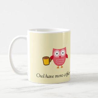 Eulen-Kaffee-Tasse Tasse