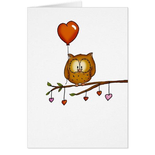 Eulen-Liebe Sie - Geschenk Valentines Tages Karte