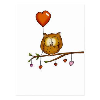 Eulen-Liebe Sie - Geschenk Valentines Tages Postkarte